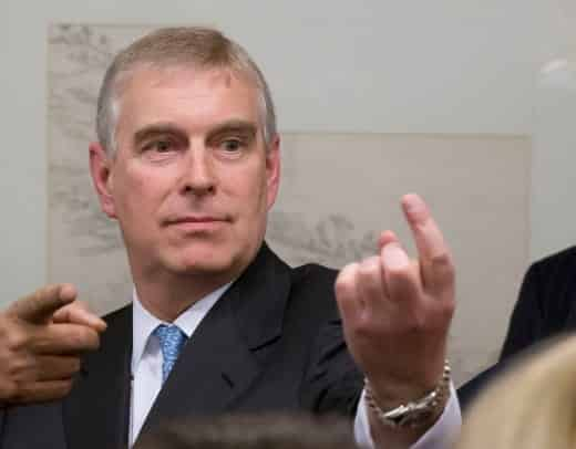 Prince Andrew at the party