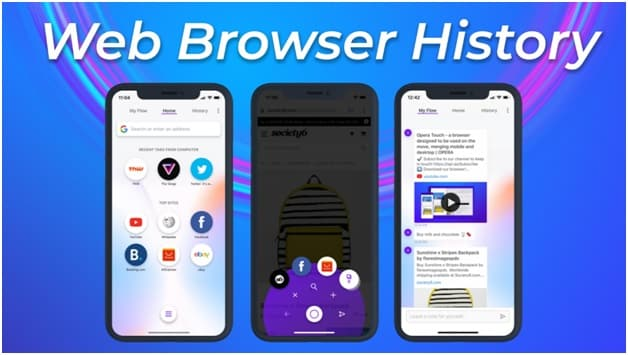 Web browser history control